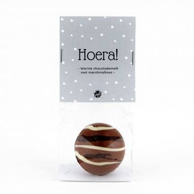 Chocolate bomb with marshmallows - Hoera! (6 st)