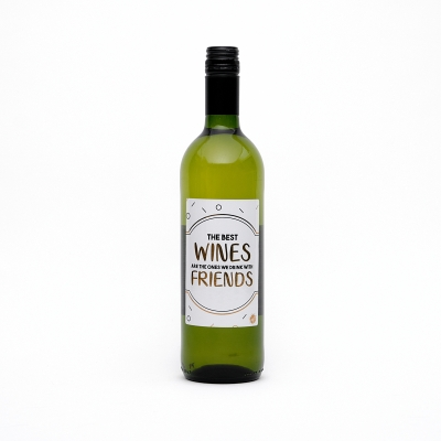 Wijnfles wit 'the best wines are...' (3 st)