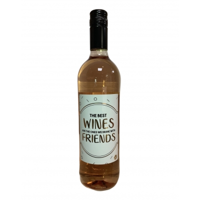 Wijnfles rose 'the best wines are...' (3 st)